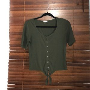 Army Green Buttoned Up Shirt